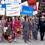 RT @OfficialMeskita: An epic feminist finale to the @CHANEL show at #pfw félicitations @KarlLagerfeld beautiful collection! http://t.co/yyfsiBxjyj