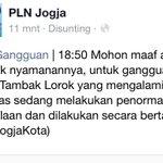 Penjelasan @pln_jogja tentang padamnya listrik di beberapa tempat di Jogja. | #FlashBreak http://t.co/szRrqZGmiJ