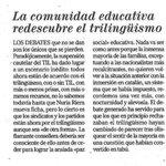 El #trilingüismo es bueno, prácticamente todos están de acuerdo... Impresiones @elmundobaleares http://t.co/J8dR7k9YjR