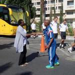 Support voor Thulani #Serero tijdens de traditionele wandeling op de wedstrijddag #UCL #apoaja http://t.co/HZ3DL4t1H9
