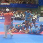 India won the match in kabaddi with South Korea congratulations girls. ...keep rocking. . http://t.co/Z5WjIxNZqq