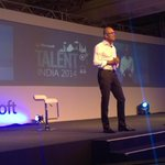 RT @josephlandes: Great event today in India with our CEO Satya Nadella #accelerateindia http://t.co/xP91Dm02td