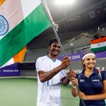 RT @PremnathPk: Saketh Myneni and @MirzaSania with their gold medals in the @India_AllSports http://t.co/3CUHT8IdxP #AsianGames2014 http://t.co/wxwn1kLYXv