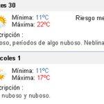 Al Norte del Río Negro, lluvias; al Sur, fresco y húmedo. Máxima: 20 grados en Montevideo http://t.co/AB4y3DXwhz http://t.co/N5dCicfrXq