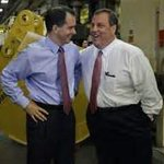 RT @NicholsUprising: Chris Christie, the Scott Walker of the East, embraces Scott Walker, the Chris Christie of the Midwest. http://t.co/hJabhU709c