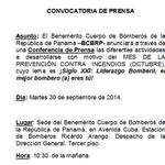 Conferencia de Prensa hoy 30 de Septiembre 10.30 am. @prensacom @MiDiarioPanama @radiopanama @ http://t.co/x1mOrCWREf