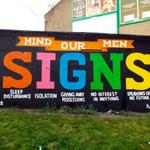 RT @PietaHouse: Hat tip to our friends in @RabbitHolePromo for the #SIGNS of #suicide #streetart mural on #Dublins Constitution Hill http://t.co/7bOsOgTBzv