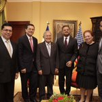 Presidente @sanchezceren se reúne con representantes de MCC previo a la firma de FOMILENIO II http://t.co/3ELy8FX1CB