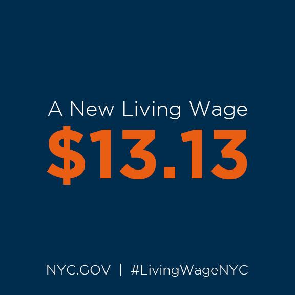 Today the #LivingWageNYC goes up to $13.13/hour. By 2019 it will be above $15/hour. http://t.co/C45ppuuGtq