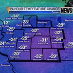 RT @KarinSwansonWx: Pretty easy to see that a cold front has moved through #Wisconsin in the last 24 hours! #wiwx http://t.co/gS9w08Ncq0