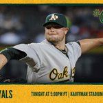RT @Athletics: .@JLester31 & the As face the Royals in tonight's #WildCard game at 5 PT. #OAKtober Preview: http://t.co/yAVw7NLHuJ http://t.co/74uhHCNwlE