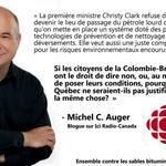 Si les citoyens de la C-B ont le droit de dire non au pipeline de TransCanada, pourquoi pas ceux du Québec? #Cacouna http://t.co/cl4vziPxbR