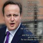 Were sick of your lies @David_Cameron #CPC14 #UKUncut http://t.co/j8tra3ndLz