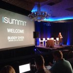 Just took the stage at @iSummit #orlandotechweek http://t.co/sh6vrR26Gy