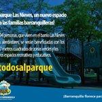 La alcaldesa @elsanoguerabaq entrega hoy a la comunidad el parque Las Nieves, otra importante obra para la ciudad. http://t.co/byDn6463AS