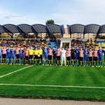 Imagen de los dos equipos antes de comenzar el encuentro #Lezama #UYL http://t.co/s1Ffx1Z2CZ