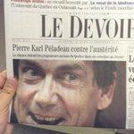 Pour ceux qui ne laurait pas vue, voici lexcellente photo de J Nadeau en Une du Devoir. #PKP #polqc http://t.co/EqDaPBASpt