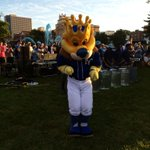 #TakeTheCrown celebration happening now on the Plaza till 9am. http://t.co/iAM4Oy9PyU