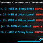 The @UVMmbb & @uvmwbb television schedule features 5 games http://t.co/02LSlEMAWf