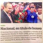 Gracias @EDHdeportes por la mención. Espero q un día próximo #ElSalvador tenga un nuevo Campeón d #boxeo profesional http://t.co/Wjbsn23PNY