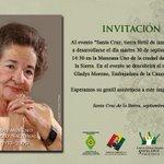 RT @CulturasSC: #GladysMorenoOrgulloNacional a las 14:30 pm el Pte. Evo Morales devela el monumento de doña #GladysMoreno #vamosbien http://t.co/dTfGUcqQCT