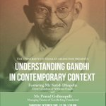 Lecture by Mahatma Gandhis great-grandson - 10/2, 12:30 pm, Nedderman Hall, Room 100. @utarlington @UTAShorthorn http://t.co/QglYSTxbeF