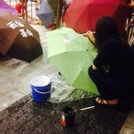 RT @varsitycuhk: Outside LegCo, people DIY their own umbrellas to show their support, some written #UmbrellaRevolution http://t.co/gDtvd5Sy…