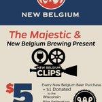 RT @RangerMadtown: Its happening tomorrow folks! @newbelgium Clips at @MajesticMadison!! @BikeFed @BeerSocietyWI @WSJbeerbaron #Madison http://t.co/2kPNSjZp2f