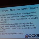 RT @KenKalthoffNBC5: #Dallas County says #Ebola transmitted from bodily fluids. Patient here in isolation. @NBCDFW http://t.co/XQ87z5xoZl