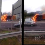 RT @aaroadwatch: DUB: M50 nbound closed after J6 Blanchardstown as em services deal with a truck on fire. Gardai say avoid the area. http://t.co/zUAwBJ8T7x