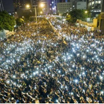#PTI, The Trend Setters. After Lahore Jalsa, Mobile Lights in Protest in #HongKong World Is Watching us. #GoNawazGo http://t.co/KDQKBdMbm9