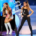 #ArianaGrande's boots were made for walking, performing, sitting, EVERYTHING! http://t.co/csYL9Mdvd0