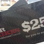 """@MrMikesOnline #SteakOut is ON! Tony is in a black journey with $50 to try """"Messy Mikes!"""" Go find him now! http://t.co/gI5Q0KvxAh"""