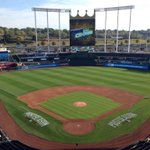 RT @Royals: Good morning from #TheK! This place will be jam packed in less than 9 hours! #TakeTheCrown http://t.co/OUPHNKR3OB