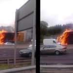 RT @irishexaminer: Passers by capture amazing scenes as M50 northbound closes after silage truck fire http://t.co/jVDtfhGxWp ^DH http://t.co/fHxCeyBGFq