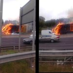 RT @JOEdotie: Pics: M50 northbound closed after truck catches fire near Blanchardstown http://t.co/HRlv764jdP http://t.co/EE5V4HFl8I