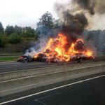 RT @SweetLikeAli: The truck on fire on the M50 is crazy!!! http://t.co/YiJ4ThfKbU