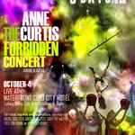 RT @mateodotcom: 3 days to go !! The Forbidden Concert Round 2: Annekapal. in cebu @annecurtissmith