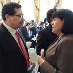 Ministra y Viceministro de Trabajo presentes en acto de firma #FomilenioII @presidencia_sv @ATiempoSV @sanchezceren http://t.co/0LDS94KUsZ