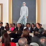 Presidente @sigfridoreyes junto al Presidente de la República durante la firma de FOMILENIO II. http://t.co/w1n9gveJu3