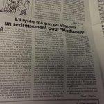 RT @Le_Reel: Le Canard Enchaîné : lElysée a tenté dempêcher le redressement fiscal de #Mediapart (4,2 millions deuros). http://t.co/8jzO8m66Gy