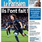 La Une de votre journal @le_Parisien demain : Ils lont fait ! #PSGBAR #PSGFCB http://t.co/8XYtXGD7iG