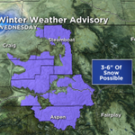 """And here we go snow lovers! 3-6"""" of snow possible in the northern/central mtns west of the divide on Wednesday #COwx http://t.co/g4Bw1Xtlyg"""