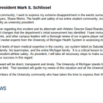 RT @michigandaily: RT @ByAZuniga: Statement from U-M President Mark Schlissel on the Shane Morris incident: http://t.co/9CAuV7tUtO