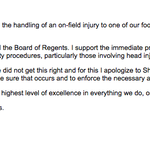 RT @G_Garno: A statement from #Michigan president Mark Schlissel on Saturdays incident: http://t.co/Kipq1r2V2R