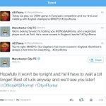 #ManCityRoma a colpi di tweets. Sfida già iniziata tra gli account ufficiali @MCFC e @OfficialASRoma. #ironiasublime http://t.co/EpcAzfvKDN