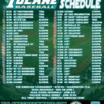 RT @GreenWaveBSB: .@GreenWaveBSB #2015Schedule #Tulane #ROLLWAVE #allin http://t.co/NoFiF7Bpb5