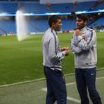 RT @MCFC: Members of the @OfficialASRoma side surveying the scene at the Etihad as we count down to kick-off. #cityvroma http://t.co/JolPLVLwtC