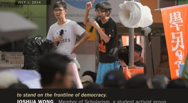 """@nycscribe: Meet the 17-year-old Hong Kong student taking on Beijing in this NYT video. http://t.co/Mk6nMWsDi9 http://t.co/Dwaw9WWFRt"""