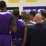 RT @Lakers: The first practice of the 2014-15 season begins with head coach Byron Scott & GM Mitch Kupchak addressing the team. http://t.co/TKw0QNdsUI